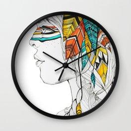 Native Woman Wall Clock