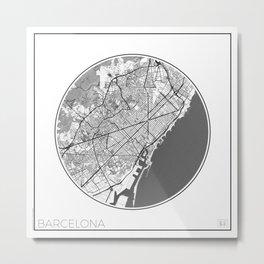 Barcelona Map Universe Metal Print