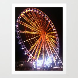 Spinning around Art Print