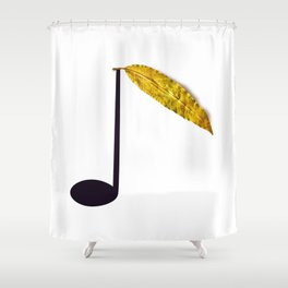 Natural Music Shower Curtain