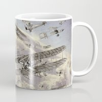 airplanes Mugs featuring airplanes 2 by Кaterina Кalinich