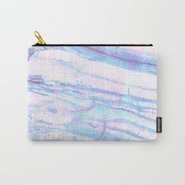 Pastel Marble with Blue Green Purple Carry-All Pouch
