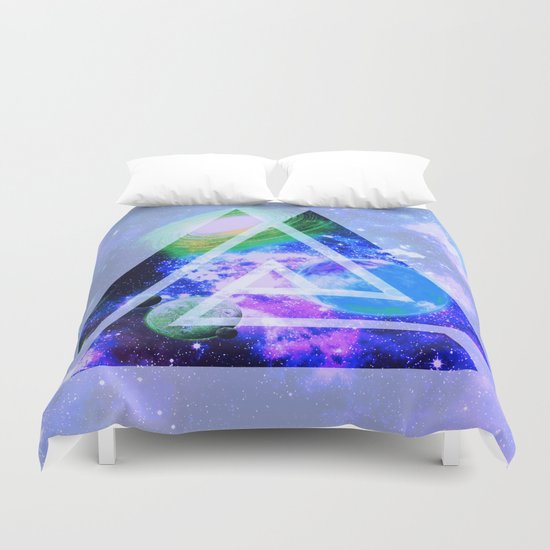 The purple space Duvet Cover