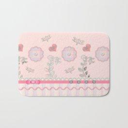 Buttons and Bows Border Print Bath Mat