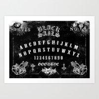 ouija Art Prints featuring ouija by Daneel Johnstone