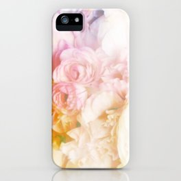 Style on a bed of peonies iPhone Case