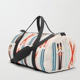 Retro Ski Illustration Duffle Bag