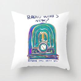 Radio What's New? Throw Pillow