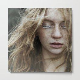Freckled girl Metal Print