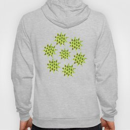 Sparkly Gold Christmas tree on abstract green paper Hoody