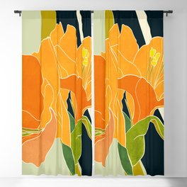 abstract floral shape art Blackout Curtain