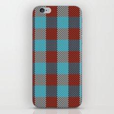Pixel Plaid - Cranberry Bog iPhone & iPod Skin