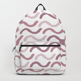 Geometrical abstract girly mauve blush pink pattern Backpack