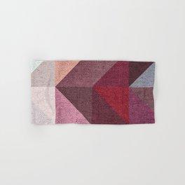 Warm Textured Chevron Geometrical Pattern Hand & Bath Towel