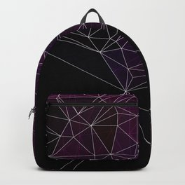 Polygonal purple, black and white Backpack