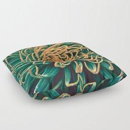 Green & orange succulent Floor Pillow