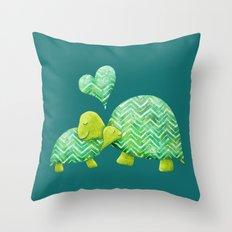 Turtle Hugs Throw Pillow