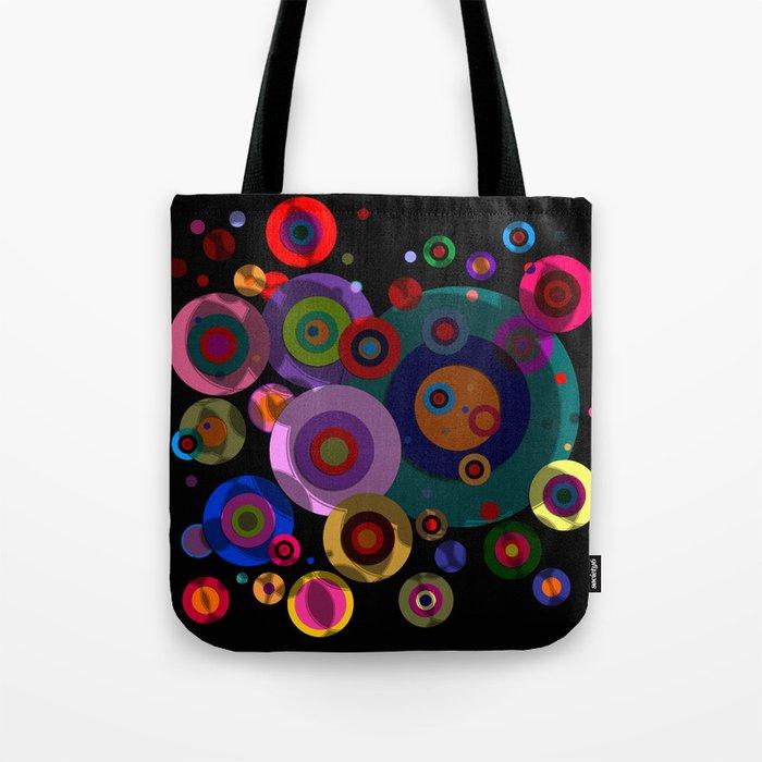 Abstract #320 Circles & Shadows Tote Bag