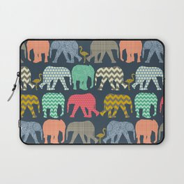 baby elephants and flamingos Laptop Sleeve
