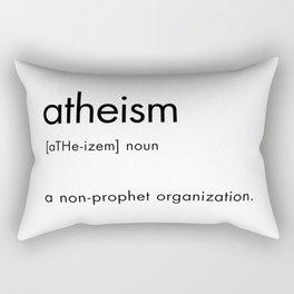 atheism definition Rectangular Pillow