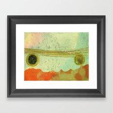 storm at the bay Framed Art Print