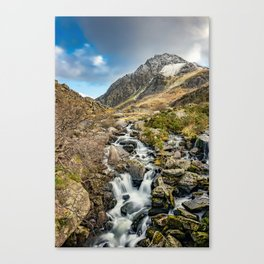 Tryfan and Ogwen Falls Canvas Print