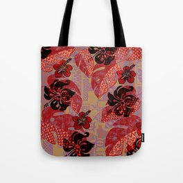 On Fire Kona Tropical Floral Tote Bag