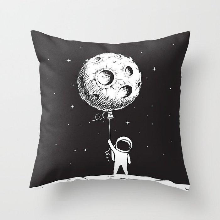 Fly Moon Throw Pillow