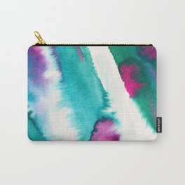 Watercolor ink effect, color flow , brush stroke, Abstract watercolor painting Pattern Carry-All Pouch