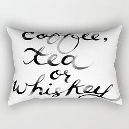Coffee Tea or Whiskey Rectangular Pillow