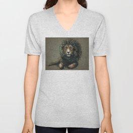 Lion background Unisex V-Neck