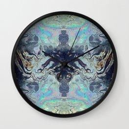 Oil Slick Wall Clock
