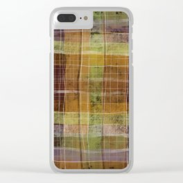 Plaid Clear iPhone Case