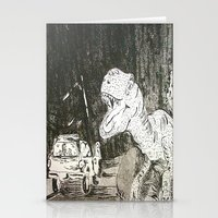 jurassic park Stationery Cards featuring Jurassic by Erika Marie Burke