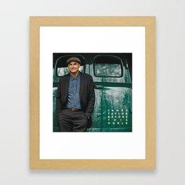 JAMES TAYLOR BEFORE THIS WORLD TOUR DATES 2019 IJAD Framed Art Print