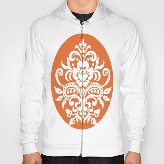 Damask on Peach Hoody