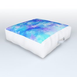 we live and breathe words Outdoor Floor Cushion