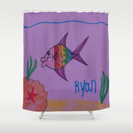 The Rainbow Cod Shower Curtain