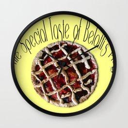 The special taste of Belotti's pie Wall Clock