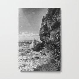 Crashing Waves At Cliffs End Metal Print