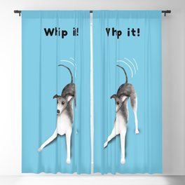 Whip it! (Light Blue) Blackout Curtain