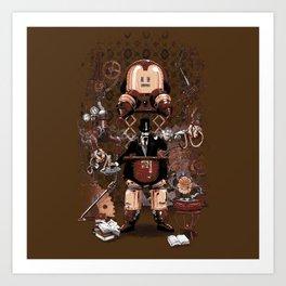 Iron gentleman Art Print