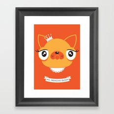 Ms. Frenchie Queen Framed Art Print