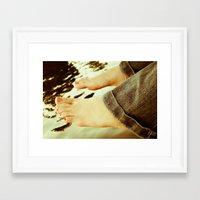 feet Framed Art Prints featuring Feet by Upperleft Studios