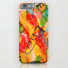 Food Illustration Carrots Pattern Vegetable Painting iPhone Case