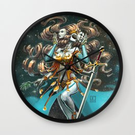 Janus, Goddess of War and Peace Wall Clock