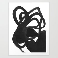 Black & White Abstract 5 Art Print