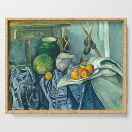 Paul Cezanne Still Life Ginger Jar and Eggplant Serving Tray