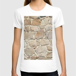 old quarry stone wall T-shirt