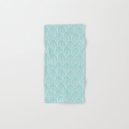 Blue Scribbles Pattern 09 Hand & Bath Towel